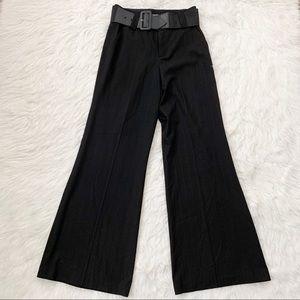 Alice + Olivia High Waist Wide Leg Black Pants 10